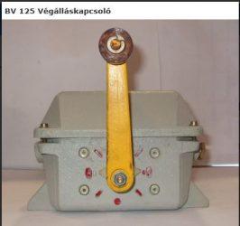 VÉGÁLLÁSKAPCSOLÓ BV-125