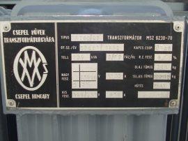 NA 630/20 Transzformátor 20/04 630KVA