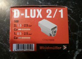 VEZETÉK ÖSSZEKÖTŐ D-LUX 2/1 0,5-2,5mm2-ig